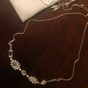 Kendra Scott June gold necklace NEW
